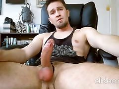 Hot handsome hunk bate and cum on web