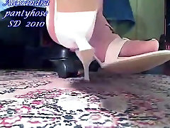 my white mules and nude feet