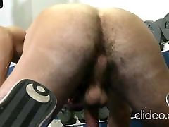 www daugther distraction net muscled Abele solo at gym jo and cum
