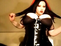Gothic beauty with fit vergin sex tits