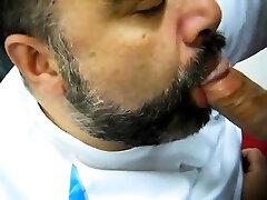 Daddy korea selatag sucking cock