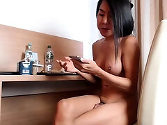 Curvy hot sex dovland with big tits strips and masturbates on a bed