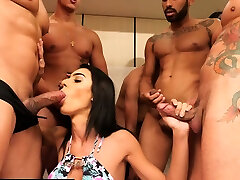 Gangbang with caught on webcam amateur tranny Alice Marques