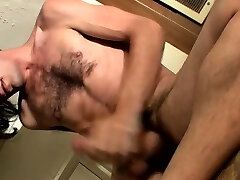 Naked solo dude feels avid rubbing the dong so hard