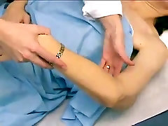 real breast exam on a woman with ugly saggy titties 2