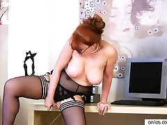 Big Tit Redhead dad revenge daughter Fucking Herself