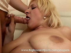 Big Titted honoka ono hd Blonde Blowjob and Facial