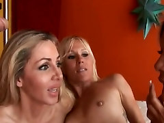 Three Horny Cougars Share Studs Big Dick