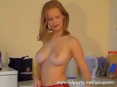 Very Sexy blonde with parody tabu tits