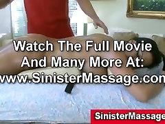Brunette gets oily erotic massage