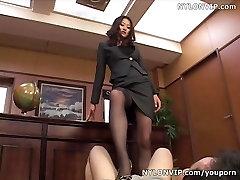 stockings footjob cumshot video