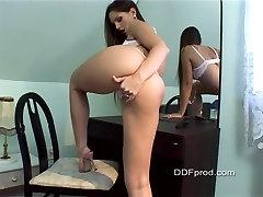 Sexy Vakars Eņģelis Striptīzs un Dildoing