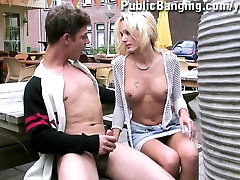 Pretty girl gives head at a RESTAURANT