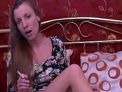 naked smoking girl