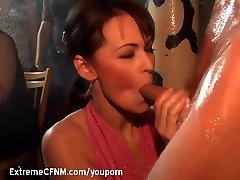 CFNM Girls suck cock
