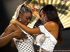 Lovely Ebony Lesbians Licking Feet