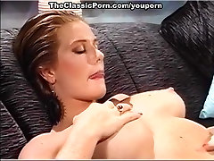 Retro pussy of busty chick owned
