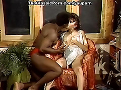 Retro busty fem worships ebony guy