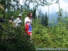 threesome fuck in nature
