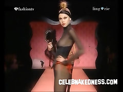 Celebnakedness models compilation flv on the runway and seethroughs 28