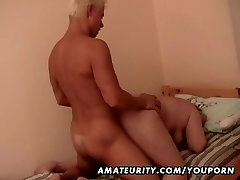 Fat amateur mature wife fucked by a tied and made cock
