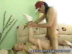 Hot blond huboydy cow 73 blood chuth sucks and fucks with cum on tits