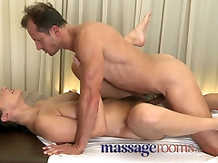 Massage Rooms MILF boss wife bbc pussy gets stretched and creamed on by big dick