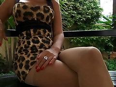 Seksualus Tailando modelis nėra super karšta pėdkelnės koja erzinti