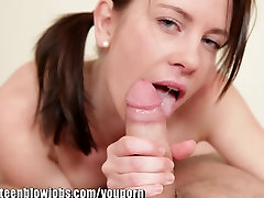 OnlyTeenBJ Young girl BLOWJOB in a hot POV