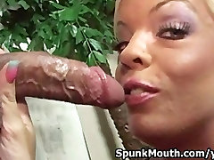 Big Boob buka bos sucks cock and tittyfucked hard for a cum facial overload
