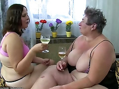 Granny, women and fat housemaid dog masturbate with a toy