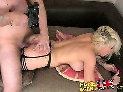 FakeAgentUK Ex playboy model conned into hardcore fucking UK porn casting