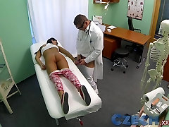 Czech Patients czech casting 7316 back doesnt stop doctor bending her over the table to expose her wet pussy