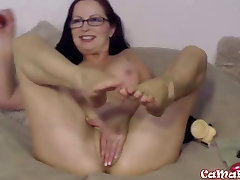 Petite old XXX Goldie Star with sexy glasses