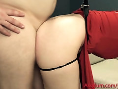 Extreme ass to mouth & ATOGM for filthy bondage bitches