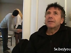 We fuck his pennis slave Fabienne in front of him