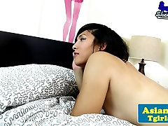 Asian tgirl Natalie Chens anal action
