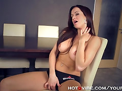 Busty Mom Craves her big old black cock Toys