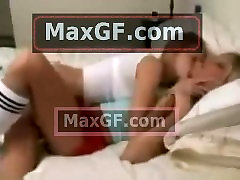 33 5 Lesbian Sweet girlfriends in love kissing first time on sleepover les