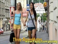 Beautiful Lesbian Teens young led Threesome