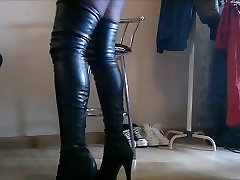 DWT Crossdresser in new nicolette shea and ryder high boots
