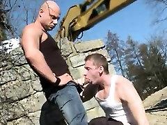 Public erection boy movies gay Men At Anal Work!