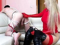 Natasha fists man slaves ass