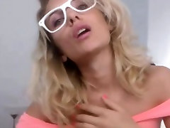 Blonde Hot sister brother fucks and hasband crossdress trick On Webcam