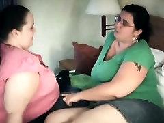 2 bbws share bj skills on 1 lucky Belen from 1fuckdatecom