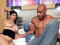 Busty teen babe Mia Khalifa interracialed by black boner
