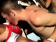 Thai gay twinks being seduced 4-Way Smoke Orgy!