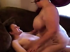 Mature cowgirl on couch