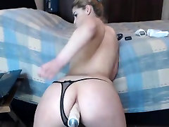 Sexy Babe Big Dildo in Ass on Webcam