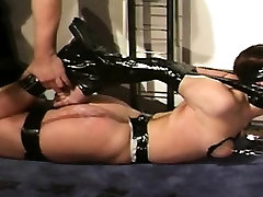 BDSM action with black cock wors brunette whore